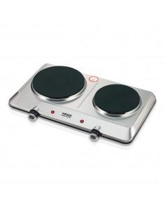 Placa elétrica DOUBLE TOP DISC - Inox 2250W